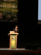 Nishanth presenting at MicroTAS 2016, Dublin, Ireland