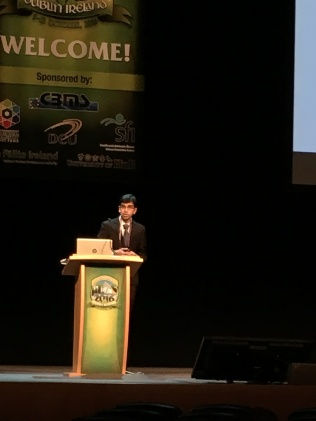 Nishanth presenting at MicroTAS 2016, Dublin, Ireland
