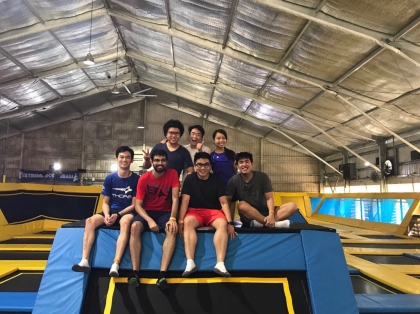 Lab outing at the Trampoline Park (2017)