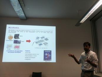 Nishanth presenting at University Hospital - TU Dresden, Germany 2018