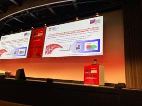 Chayakorn presenting at Microtas 2019, Basel, Switzerland