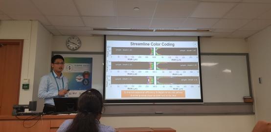 Shengyuan presenting at ICBME 2019